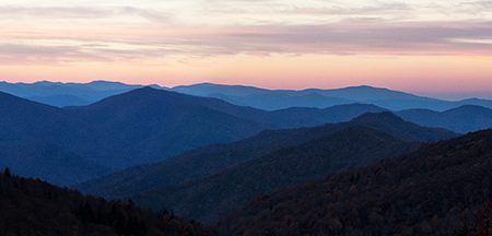 Balsam Mtn Sunset  Panorama CAT-www