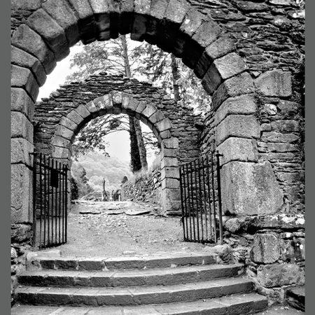 CAT 0773-99 BW The Gates of Glendalough-www